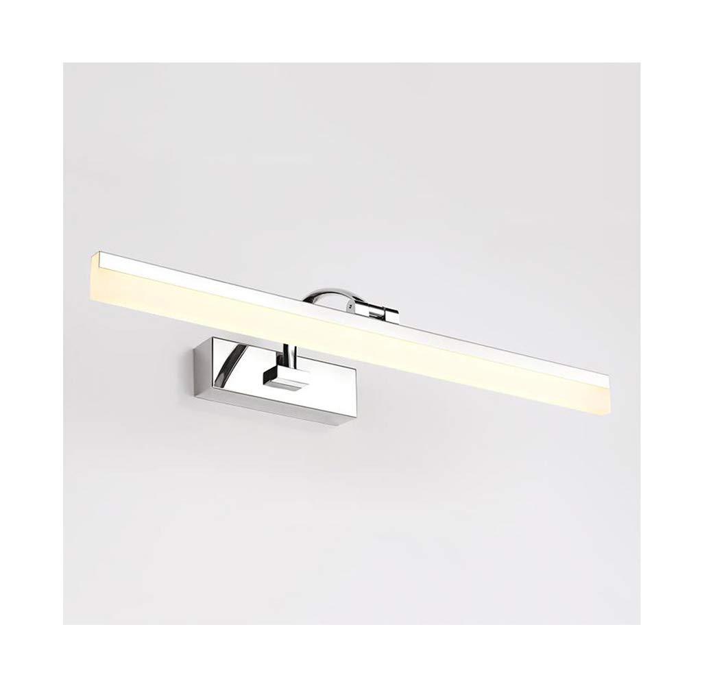 &Spiegelleuchte Spiegel Front Light LED Acryl Edelstahl verstellbare Badezimmer Wandleuchte (Farbe   Warmes Licht-16W 70CM)