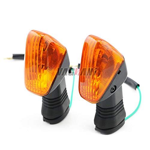 FidgetGear Front Rear Turn Signal Indicator Lamp For KAWASAKI ZX-6RR KLE500 KLE 650 KLR650 Yellow: