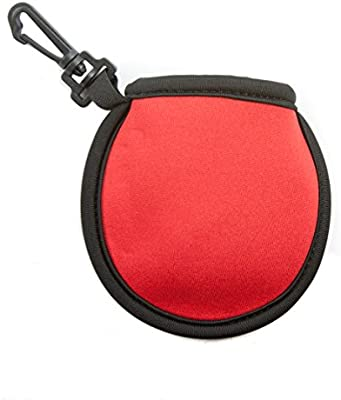 Amazon Com Stripe Golf Ball Washer Pouch Pocket Ball Cleaner With Clip Red Sports Outdoors