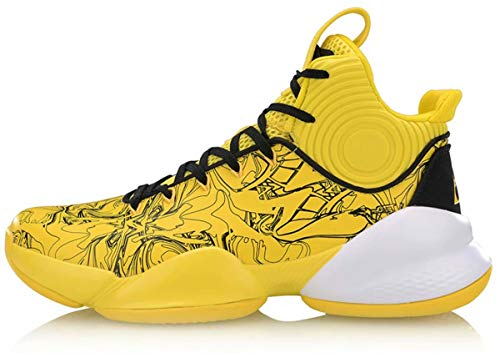 4b9f0758a5b LI-NING CJ McCollum Power V Men Professional Basketball Shoes Lining Cushioning  Athletic Sport Shoes Sneakers Yellow ABAP025 US 9.5