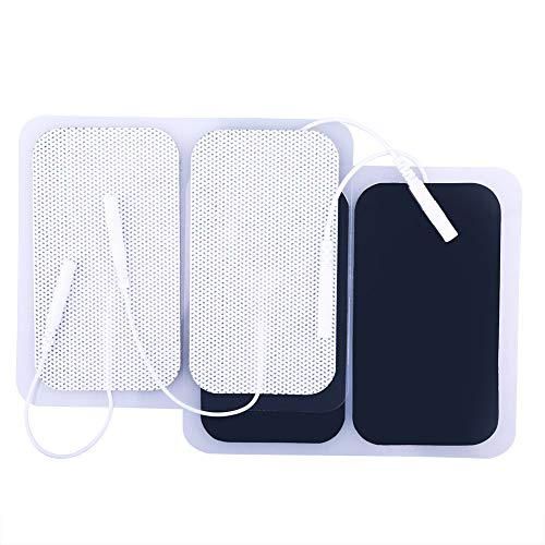 - TENS Unit Pads, 40PCS, 2x3.5 Inches, TENS Electrodes Pads Replacement, Reusable Rectangular Electrodes Patches for Electrotherapy EMS Massage
