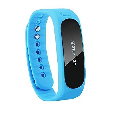 DIZA100 E02 Wireless Bluetooth Activity and Sleep Pedometer Bracelet Smart Fitness Tracker Wristband - Blue