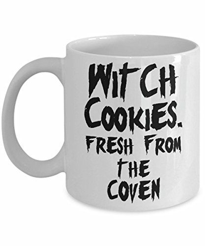 Funny Halloween Mug - Witch Cookies Fresh From the Coven Pun Coffee Cup