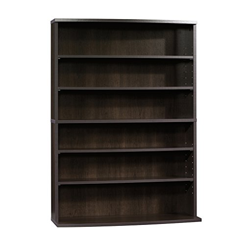 Sauder Beginnings Multimedia Storage Tower, 29-Inch, Cinnamon Cherry Dvd Storage Bookcase
