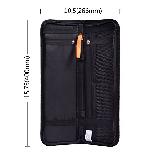 HDE Travel Tie Case Necktie Luggage Organizer Portable Nylon Storage Bag by HDE (Image #5)