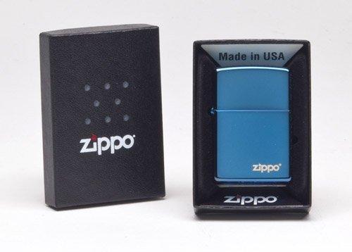 - Zippo 20446ZL Sapphire Plated Lighter