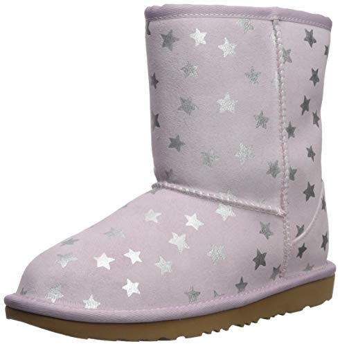 UGG Girls' K Classic Short II Stars Fashion Boot, Lilac,, used for sale  Delivered anywhere in USA