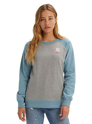 Burton Women's Keeler Crew Sweatshirt, Gray Heather SS19, Medium