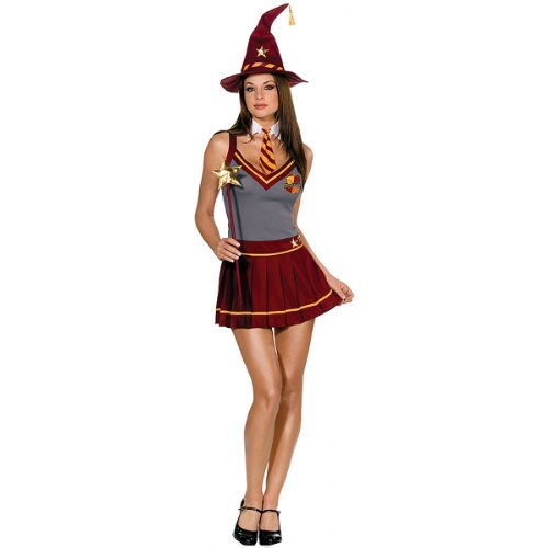 [Wizard Academy School Girl Costume - Large - Dress Size 10-14] (Holoween Costumes Ideas)