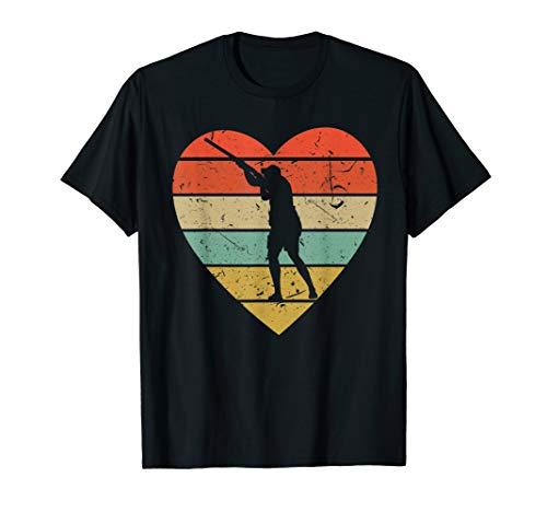 Skeet Shooting Vintage Design Retro Clay Shooter Heart Sport T-Shirt (Best Clay Pigeon Shooting Guns)