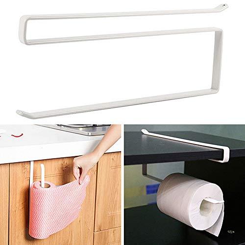 Agordo Metal Paper Roll Towel Holder Racks White Kitchen Under Cabinet Door Drawer New