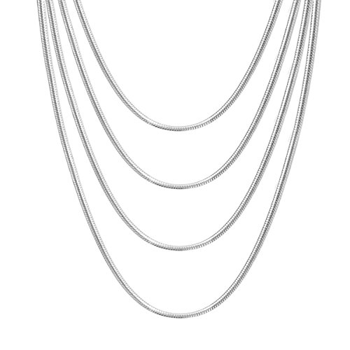 "Wholesale Lots Unisex Jewelry 925 Sterling Silver Snake Chain Necklace 16"" - 30"" (26)"