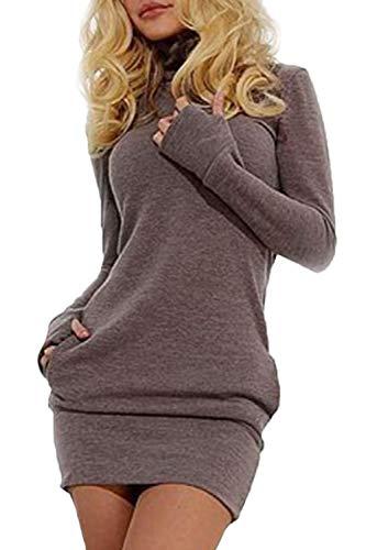 Las Mujeres En Otoño Sudaderas Vestido Casual De Largas Mangas Cuello Alto Especial Estilo Slim Fit Pullover Camiseta…