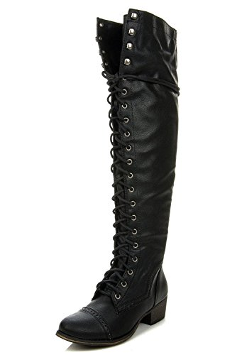 Breckelles ALABAMA-12 Womens Knee High Riding Boots
