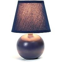 Simple Designs Home Mini Ceramic Globe Table Lamp (Blue)