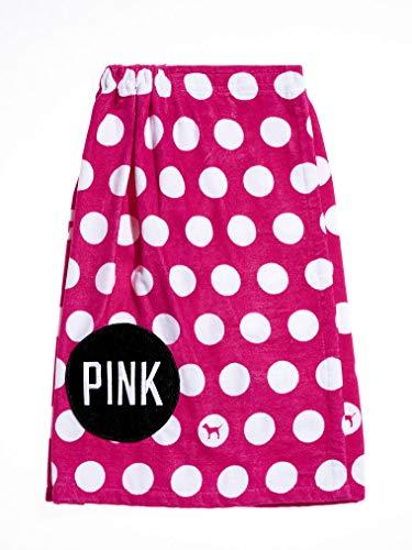 (Victoria's Secret Pink Polka DOT WRAP Towel)
