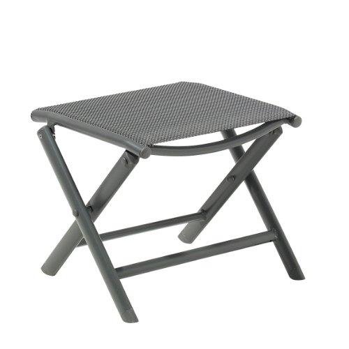Greemotion Fußhocker Faro, anthrazit/schwarz, Artikelmaße: ca. 41 x 47 x 39 cm