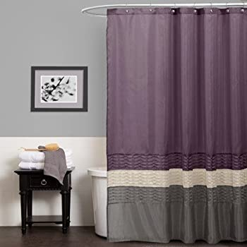 Lush Decor Mia Shower Curtain  72 by Inch Purple Gray Amazon com