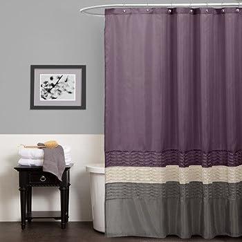 Lush Decor Mia Shower Curtain 72 By Inch Purple Gray Amazon Com