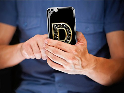 Skino™ Custodia Skin 3D Anti-Gravità Case Cover Resina Gel per iPhone 5 / 5s / 5 SE / 6/6 Plus / 6s / 6s Plus / 7/7 Plus Anti-Scratch Protezione 100% UV Antiscivolo Letter Gold Lettera Doro D (iPhone