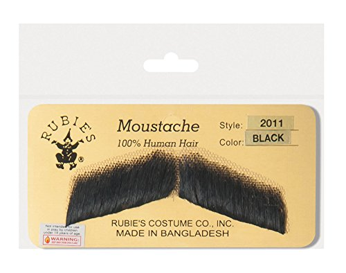 Rubie's Gentlemen's Human Hair Moustache,Light Grey,One Size]()