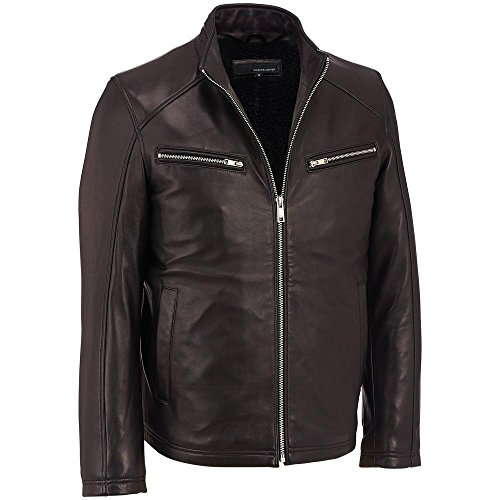 Wilsons Leather Mens Faux-Fur Lined Lamb Jacket W/ Stand ...