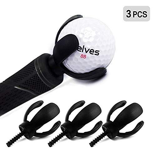- ELVES 3 PCS 4-Prong Golf Ball Retriever Grabber Pick Up Back Saver Claw Put On Putter Grip,Golf Accessories