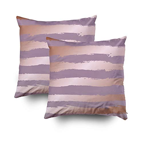 KIOAO Holiday Pillows Decorative Throw Pillows,Square Throw Pillowcase Covers Decorative Background Imitation of Pink Gold Rose Gold for Design and Decoration of Su Printed Both Sides 18X18Inch 2Pcs