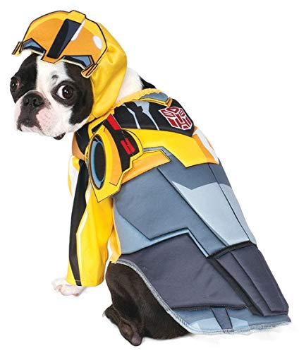 Rubie's Costume Co. 580498LXL-XL Transformers Deluxe Bumblebee Pet Costume, X-Large, Multicolor -