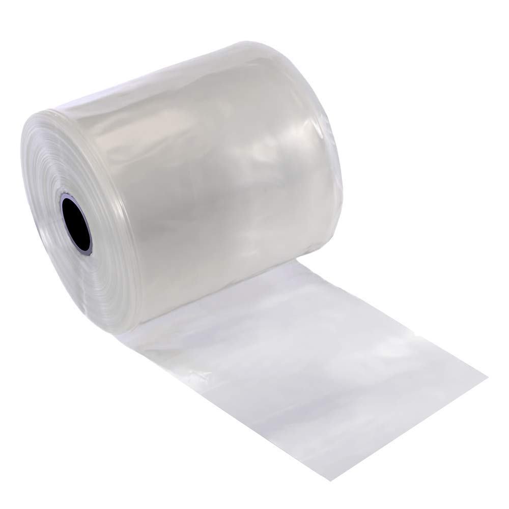 Resilia Lay Flat Poly Tubing - True Seamless, Clear Food Grade Polyethylene, Custom Poly Bag Packaging Solution - 5 Inches x 1,500 Feet, 4 Mil Thickness