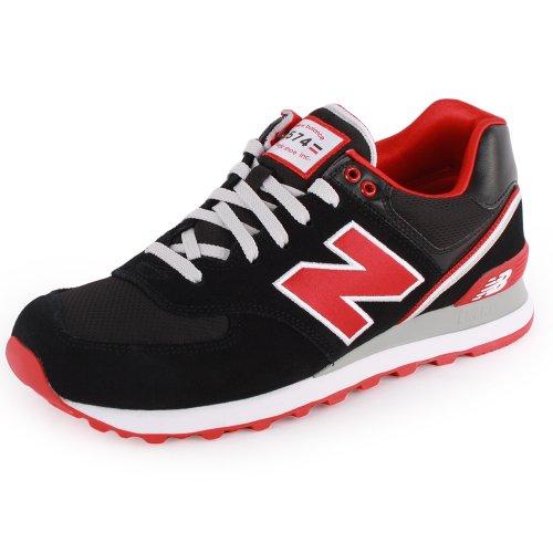 new balance 574 negras y rojas