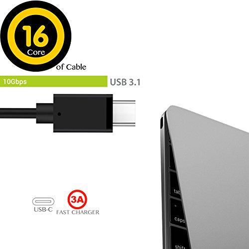 183cm/6FT] USB-C 3 1 Extension Cord, XIIVIO Thunderbolt 3 USB Type C