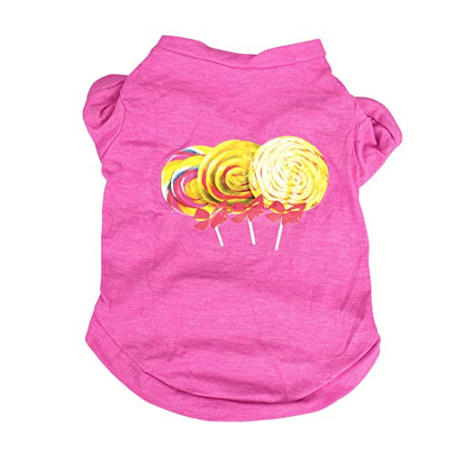 uxcell Dog T Shirts Cotton Costume Cat Pet Sweatshirt Tops Clothing Vest Puppy Spring/Summer/Fall Cool Clothes Apparel Outfits, 26, XS