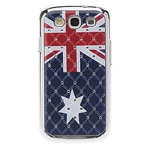 Flag Pattern Hard Case with Rhinestone for Samsung Galaxy S3 I9300