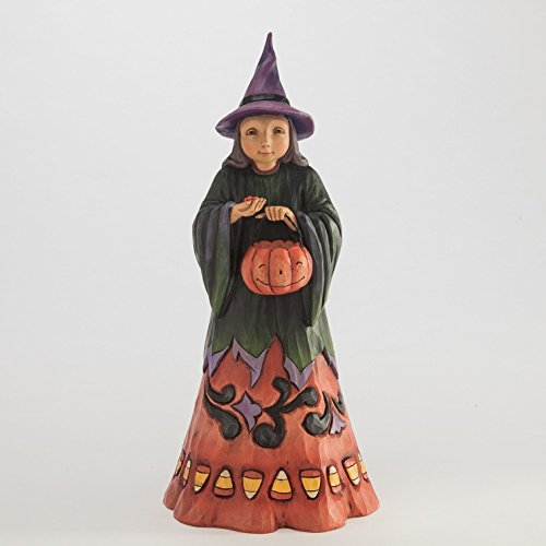 Jim Shore Heartwood Creek Deliciously Wicked Candy Corn Witch Halloween Figurine