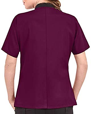 Women's Lightweight Short Sleeve Chef Coat (XS-3X, 3 Colors)