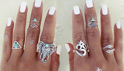 Supplies Joint Knuckle Nail Midi Ring Set Boho Ring Set