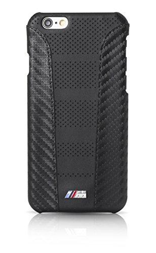 BMW BMHCP6MDSCA Sammlung Carbon Inspiration Streifen harte Schutzhülle für Apple iPhone 6/6S (Größe: M) schwarz