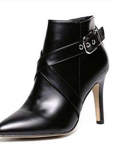 5 7 Stiletto us5 Semicuero Uk3 Eu36 Botas Puntiagudos Mujer Cn35 Eu37 5 Black Casual Zapatos 5 Negro Uk4 De 5 Tacón Cn37 5 us6 Black Xzz PqRSI6