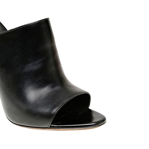 Fsj Donna Sandali Mule Lucidi Pantofole Scivoli Tacchi Alti Stiletto Slip On Size 4-15 Us Black