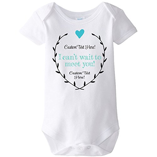 Customized CarefreeTees Hi Grandma & Grandpa! - Pregnancy Announcement (Baby Bodysuit 3M Custom Text and Colors)