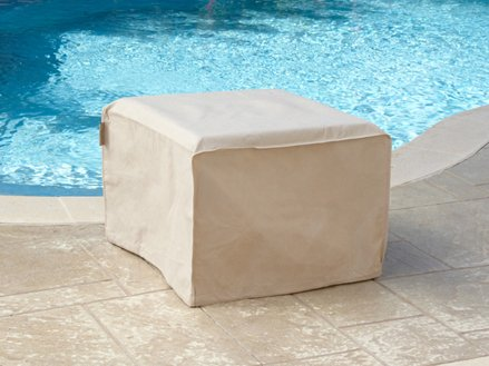 Square Fire Pit Cover Elite Black