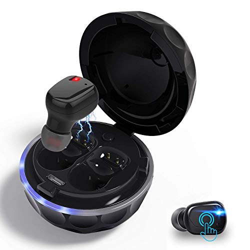 VORSTEK Wireless Bluetooth Earbuds Golf Shape Case Charging Station Touch Pair Quick Solid Sound Mic in-Ear Stereo Hand Free Calling 10m No Obastacle Connection Noice Cancelling Single Binaural Ears