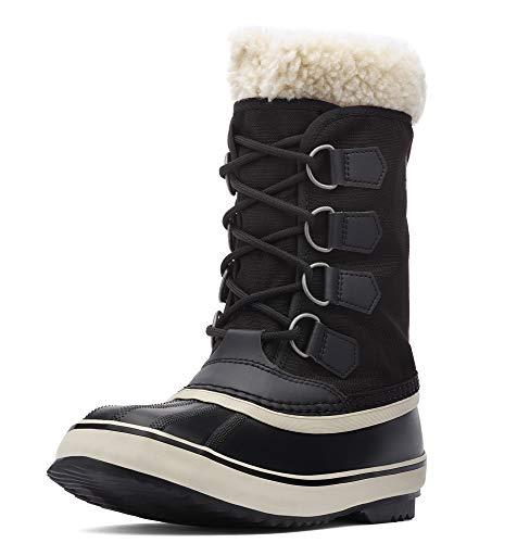 Sorel - Women's Winter Carnival Waterproof Boot for Winter, Black/Stone, 8.5 M US