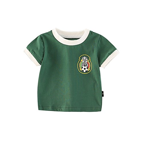 Infant Jersey - Fairy Baby Toddler Baby Boys Girls World Cup Football Soccer Jersey Shirts Summer Outfit Clothes Size 100 (Green)