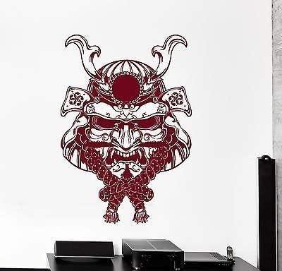 Amazon Com V Studios Walll Vinyl Decal Japan Japanese Samurai Mask Fighter Decor Z3874 Home Kitchen