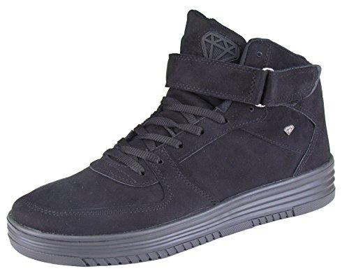 Herren Schuhe - Freizeitschuhe - High Sneaker - mit Lasche - Dolce Taube / Black - verschiedene Farben Schwarz