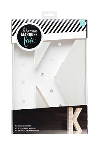 American Crafts Heidi Swapp Love K 12 Inch Marquee Letter ()