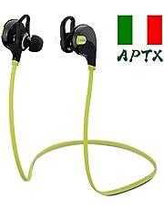 Mpow Swift Auricolari Wireless Bluetooth 4.0 Headset Stereo Cuffie Sportive a Prova di Sudore con Microfono e AptX Tecnologia Headphone per iPhone, LG, Samsung, Sony, Huawei ed Altri Smartphone