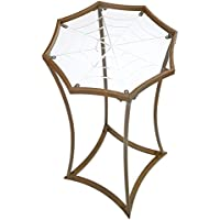 Design Toscano Black Widows Web Metal Side Table